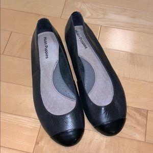 Hush Puppies black leather ballet flat
